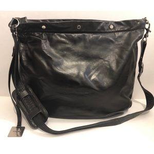 😍RUDSAK Crossbody Black Leather Long Strap HUGE